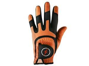 Powerbilt One-Fit Adult Golf Glove - Mens LH Orange/Black