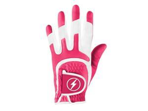 Powerbilt One-Fit Adult Golf Glove - Ladies RH Magenta/White