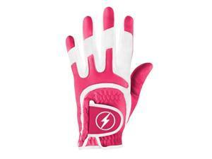 Powerbilt One-Fit Adult Golf Glove - Ladies LH Magenta/White