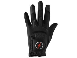 Powerbilt One-Fit Adult Golf Glove - Mens RH Black/Black