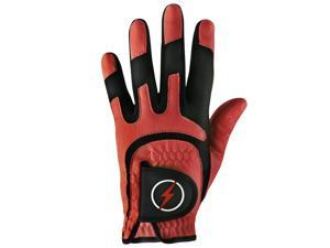 Powerbilt One-Fit Adult Golf Glove - Mens RH Red/Black