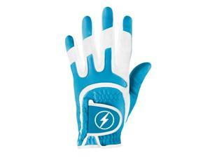 Powerbilt One-Fit Adult Golf Glove - Ladies LH Cyan/White