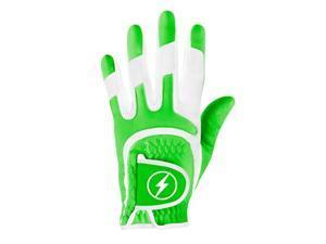 Powerbilt One-Fit Adult Golf Glove - Ladies RH Green/White
