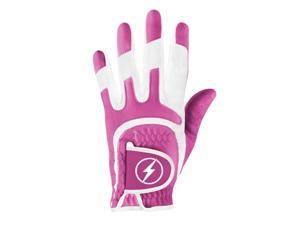 Powerbilt One-Fit Adult Golf Glove - Ladies RH Lavender/White
