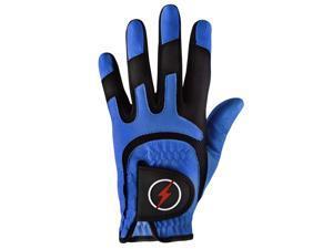 Powerbilt One-Fit Adult Golf Glove - Mens RH Blue/Black