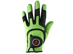 Powerbilt One-Fit Adult Golf Glove - Mens RH Green/Black