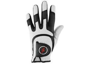 Powerbilt One-Fit Adult Golf Glove - Mens RH White/Black