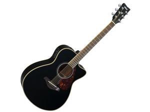 Yamaha FSX720SC Solid Top Symphony Acoustic-Electric Guitar, Black