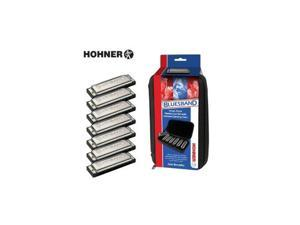 Hohner Bluesband 7-Harmonica Set with Case