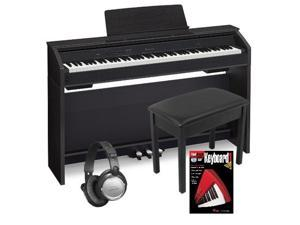 Casio PX860 Privia 88 Weighted Key Digital Piano Bundle, Black Finish PX860BK