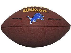 Detroit Lions Logo Wilson NFL Composite Leather Full Size Football