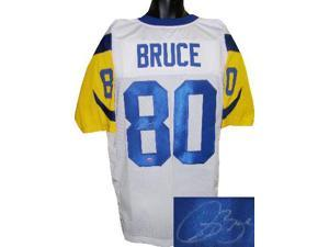 Isaac Bruce signed St. Louis Rams White TB Prostyle Jersey- Bruce Hologram