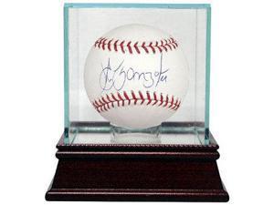 Alex Gonzalez signed Official Major League Baseball w/ Glass Case (Marlins/Red Sox/Tigers)