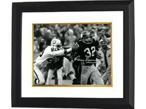Franco Harris signed Pittsburgh Steelers 8X10 B&W Photo Custom Framed (Immaculate Reception)