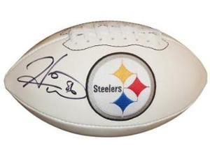 Hines Ward signed Pittsburgh Steelers White Logo Football