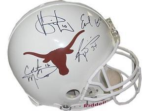 Ricky Williams signed Texas Longhorns Greats Full Size Authentic Helmet w/ 4 signatures