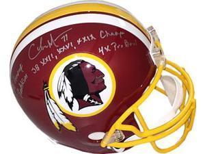 Charles Mann signed Washington Redskins Riddell Full Size Replica Helmet triple SB XXII, XXVI, XXIX Champs, 4X PB, 70 Greatest