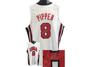 Scottie Pippen signed 1992 Team USA Olympic Gold Dream Team White Custom Jersey