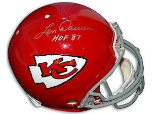 Len Dawson signed Kansas City Chiefs TB Full Size Proline Helmet HOF 87