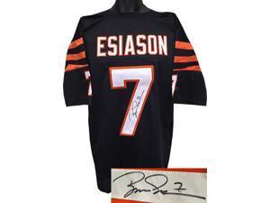 Boomer Esiason signed Cincinnati Bengals Black TB Prostyle Jersey #7 XL- JSA Hologram
