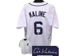 Al Kaline signed Detroit Tigers White Throwback Prostyle Jersey XL- JSA Hologram