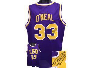 Shaquille O'Neal signed LSU Tigers TB Purple Custom Jersey #33