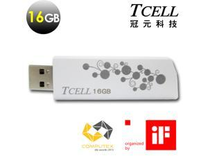 TCELL Hide & Seek (White) USB2.0 16GB Flash Drive