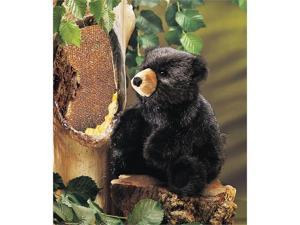 Folkmanis Puppets BLACK BABY BEAR Plush Hand Puppet