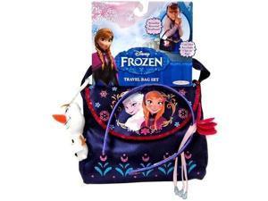 Disney Frozen TRAVEL BAG SET w Olaf Keychain & Rosemal Headband & Bag