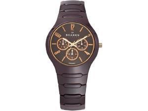 Skagen Ceramic Collection Brown Dial Unisex Watch #817SXDC1