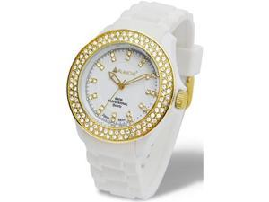 Avalanche 40mm Bliss Watch White and Gold AV-107S-WHGD-40