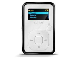 "SanDisk Sansa Clip+ 1.0"" White 4GB MP3 Player SDMX18R-004GW-A57"