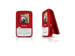 "SanDisk Sansa Clip Zip 1.1"" Red 4GB MP3 Player SDMX22-004G-A57R"