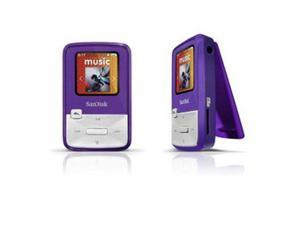 "SanDisk Sansa Clip Zip 1.1"" Purple 4GB MP3 Player SDMX22-004G-A57P"