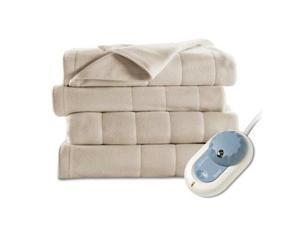 Sunbeam Product Quilted Fleece Heated Blanket/King (Sand) BW1014-030-783