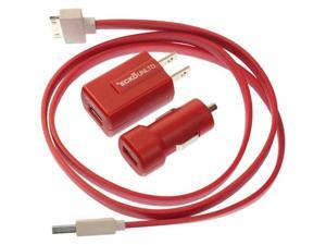 ecko EKU-PK1-RD Ecko wall and car charger kit for ipod /iphone