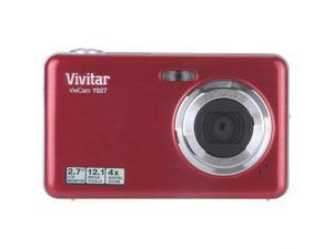 Vivitar Vivicam T027 Red 12 MP 4X Optical Zoom Wide Angle Digital Camera