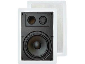 Pyle PDIW57 Pyle 5 25' 300-watt 2-way in-wall enclosed speakers with directional tweeter
