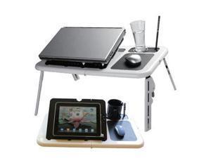 Estand LD-09 WHITE/BLACK Laptop table w/fan wh/bl