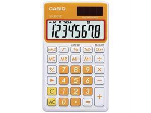 CASIO SL300VCOESIH Casio sl300vcoesih solar wallet calculator with 8-digit display (orange)