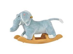 Radio Road Toys ROC-ELE-S Radio road toys voice recording rocking elephant-blue