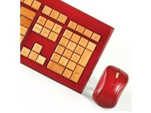 Impecca USA KBB605CW Bamboo wirelesskeyboard & mous