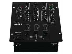 """GEMINI PS3 PROFESSIONAL DJ MIXER WITH USB (3-CHANNEL, 12"""" STEREO)"""