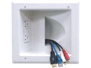 PEERLESS IBA5-W Peerless iba5-w in-wall plastic cable plate (with surge suppressor)