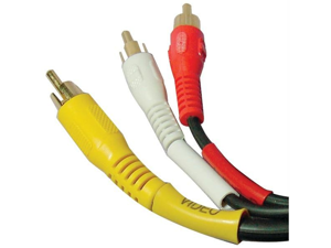Petra C1726/G/BK/3' A/V Interconnect Cable (3-Feet)