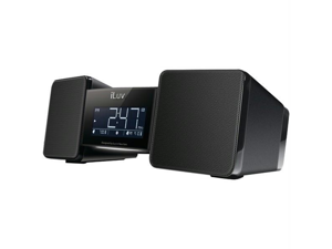 ILUV IMM157BLK Iluv imm157blk vibro(tm) bluetooth(r) wireless speaker and alarm clock with shaker