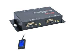 QVS MSV21A Qvs 2x1 250mhz 2 port vga video/audio share switch with remote