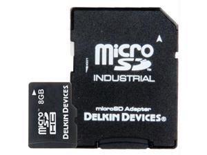 Delkin 8GB microSD Memory Card w/SD Adapter