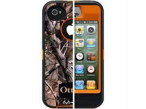 Otterbox Defender Case Cover with Belt Clip for Apple iPhone 4 4S AP Blaze - Orange Real Tree Camo Pattern APL2-I4SUN-H4-E4RT1