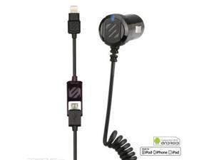 Scosche - strikeDRIVE Smart 12W Car Charger for Lightning and Micro USB Devices